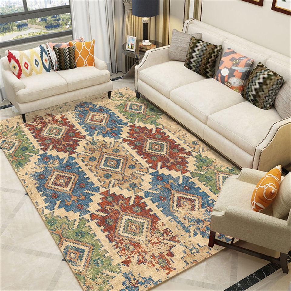 European Morocco Carpets For Modern Living Room 7 Mm Thick Bedrooom Carpet Soft Corridor Hallway Rugs Foot Mat Home Essentials