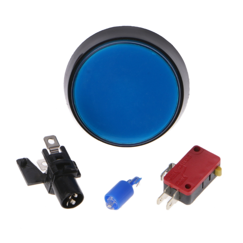 5 Pcs/Set 5 Colors <font><b>60mm</b></font> Round Push <font><b>Button</b></font> Switch For Game Player Arcade Joystick image