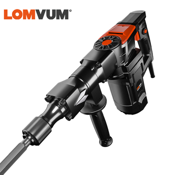 LOMVUM 26MM Electric Rotary Hammer 220V Impact  Demolition Hammers Indurstial 1200W Electrical Breaker AC Power Tools 50hz demolition breaker tool electrical breaker hammer for wall brake for cement broken at good price
