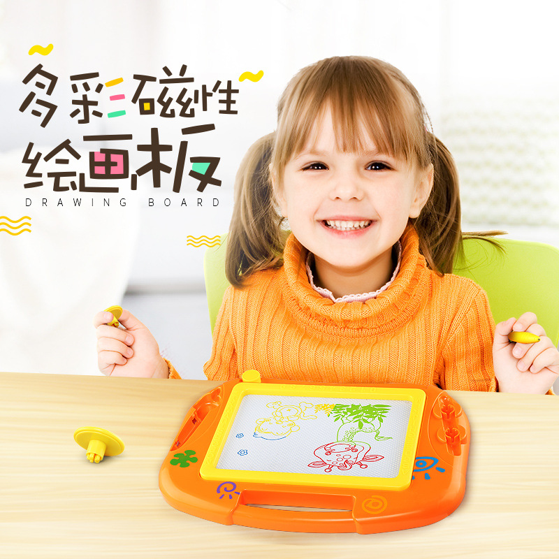 Ming Tower Colorful Magnetic Drawing Board 2-8-Year-Old Magnetic Drawing Board Cb001