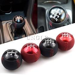 Ручка переключения передач Mugen, черная/красная, 5/6 скорость M10x1.5, для Honad Civic Fit Accord EK9 EP3 FN2 DC2 DC5 S2000 FD2