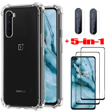 tempered glass + case for one plus 8t soft clear silicone phone cases oneplus 8 t one plus 7t shockproof cover oneplus nord case
