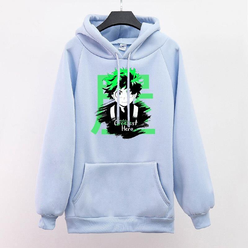 My hero academia hoodie Unisex The Worlds Greatest sweatshirt Harajuku Oversize loose fashion casual pullover hoodie Streetwear 10