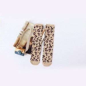 Image 5 - 아기 소녀 가을 겨울 무릎 높은 양말 표범 인쇄 줄무늬 부드러운 다리 따뜻하게 면화 긴 양말 소년 소녀 양말 1.3kg #40