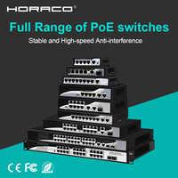 4 8 16 24 Port 10/100M Ethernet de red interruptor de Poe 48V para cámara IP CCTV inalámbrico AP 250M IEEE 802,3 AF/en OEM apoyo