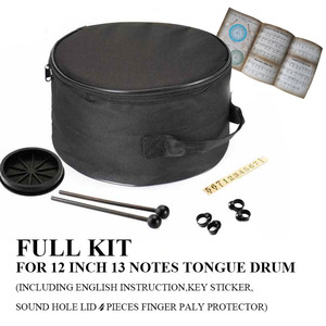 Image 5 - 12 Inch 13 note Steel Tongue drums percussion musical Instruments hand pan Tank Drum With A Carry Bag Drumsticks Handpan