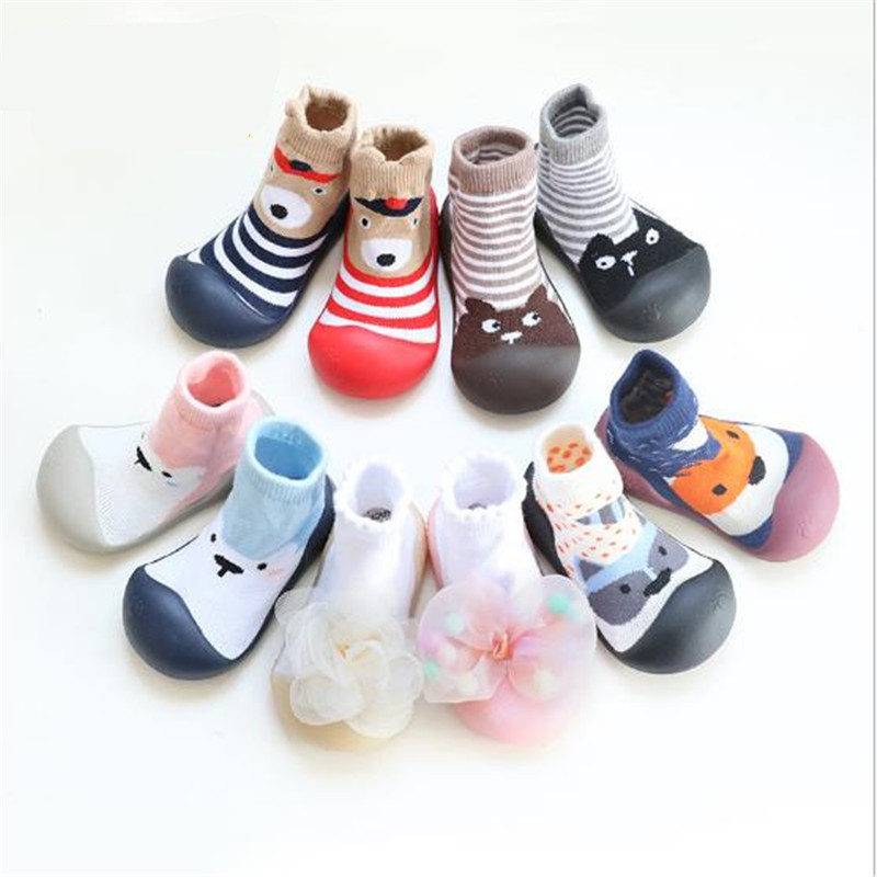 Shoes Sneaker Socks Rubber First-Walkers Toddler Bebe Attipas Baby-Girl Same-Design Cartoon
