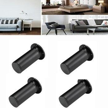 4pcs Adjustable Height Furniture Legs Level Sofa Black Aluminum Cabinet Table Base with Screw Hardware - discount item  41% OFF Furniture Parts