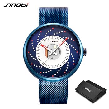 SINOBI gorące nowe koła kreatywny projekt mężczyźni zegarki fajne wodoodporna świecenia japonia importowane zegarek kwarcowy ze stali nierdzewnej tanie i dobre opinie KENFIT 25 4inch Moda casual QUARTZ 3Bar Klamra z haczykiem STOP Hardlex Papier STAINLESS STEEL ROUND Odporna na wstrząsy