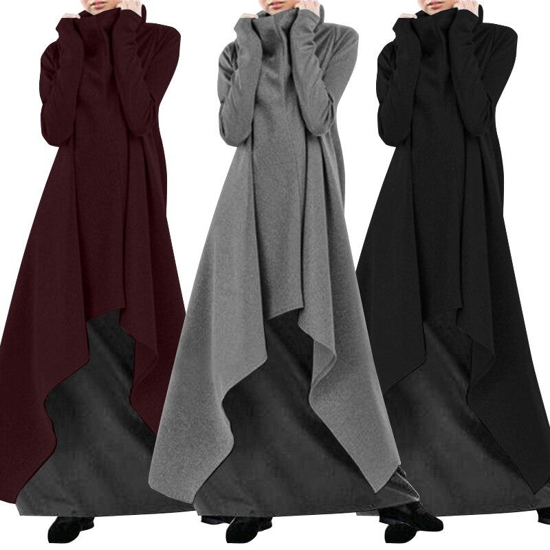 2019 ZANZEA модное платье с капюшоном, женское осеннее платье, Повседневный Сарафан, водолазка с длинным рукавом, толстовки Vestidos размера плюс|Платья|   | АлиЭкспресс - Толстовки и худи