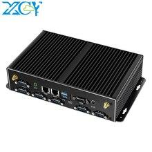 Мини-ПК XCY Intel Core i7 i5 4200U i3, 2 LAN 6 * RS232 4 USB HDMI VGA WiFi 3G 4G Встроенный промышленный микрокомпьютер Windows Linux