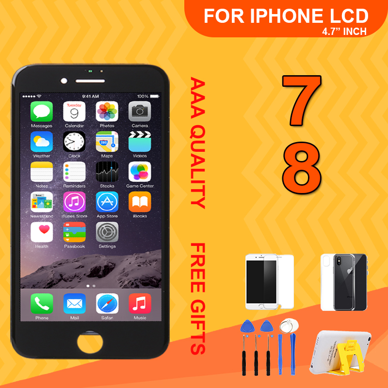 Grade AAA Full Assembly <font><b>LCD</b></font> <font><b>Ecran</b></font> For <font><b>iPhone</b></font> 7 <font><b>8</b></font> Display Replacement Touch Screen Digitizer For <font><b>iPhone</b></font> <font><b>8</b></font> No Dead Pixel With Gift image