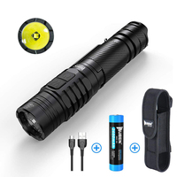 WUBEN Tactical LED Flashlight CREE XP L V6 LED Bulbs 1200 Lumens USB Rechargeable IPX8 Waterproof with 18650 Li Battery