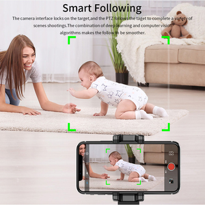 Image 2 - TISHRIC Gimbal Selfie Stick Tripod/Bluetooth Rotation Face Camera Phone Holder/Stand for Smartphone 360 Object Tracking Holder