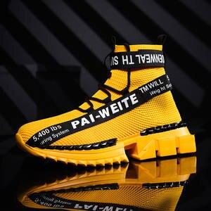 Shoes Sneakers Sock Women High-Top Link Footwear-Height Increasing Fly VIP