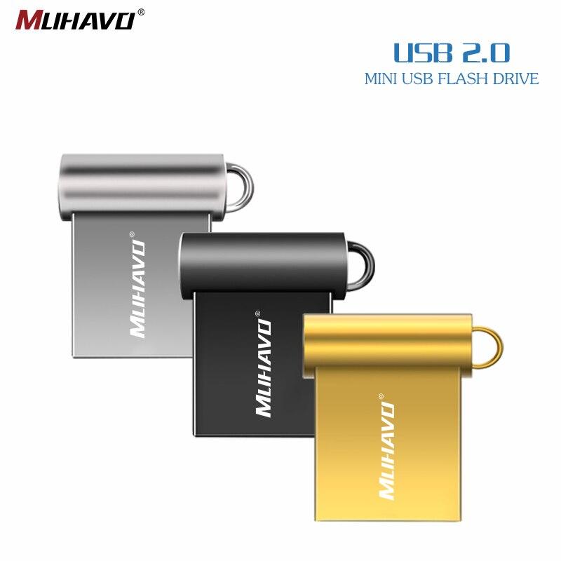 MINI pluma drive 32GB usb flash drive 64GB pendrive 128GB 16GB usb 2,0 8GB 4GB con regalo anillo nuevo disco de u