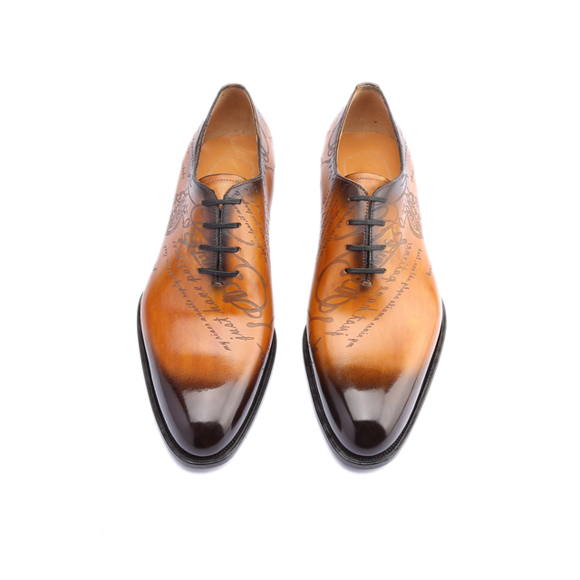 Leather Shoes Men Real Genuine Leather Custom shoes 5