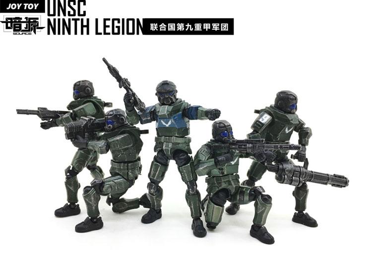 JOY TOY 4th Generation UNSC 9 Legion x 5 pcs 1:27 Action Figures