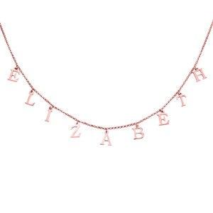 Image 2 - AILIN 실버 925 이름 목걸이 골드 컬러 맞춤 편지 투표 목걸이 네임 플레이트 초커 맞춤 목걸이 여성 선물 쥬얼리