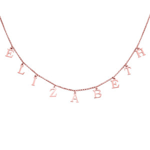Image 2 - AILIN Silver 925 Name Necklace Gold Color Personalized Letter Vote Necklace Nameplate Choker Custom Necklaces Women Gift Jewelry