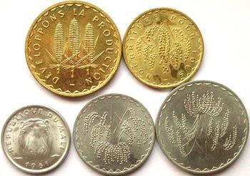 5pcs Mali coin  100% original coin Not circulated 1975-1977 year