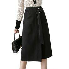 Женские осенние юбки s юбка с высокой талией Женская стрейчевая