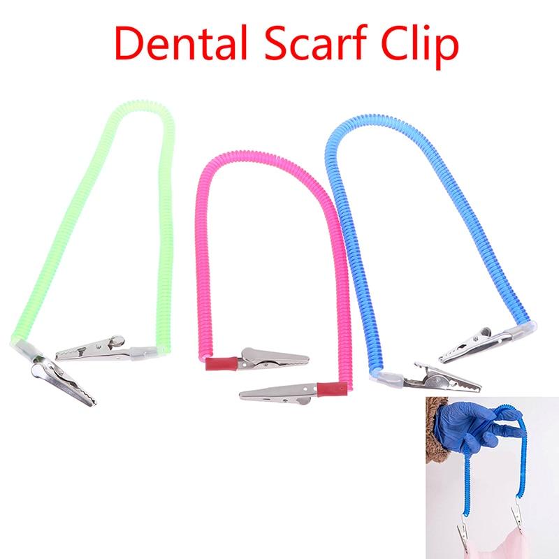 1pc Elastic Dental Scarf Bib Clips Napkin Holder Dentistry Material Napkin Holders Dental Tools