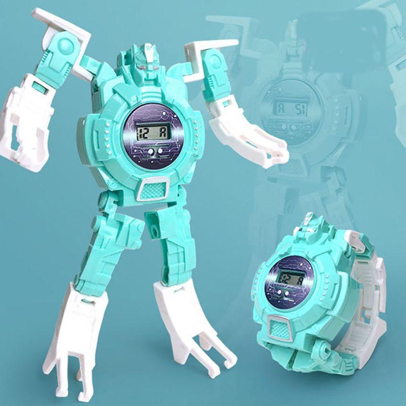 Deformation Robot Watch Children Electronic Wristwatch Robots Transformation 72XC