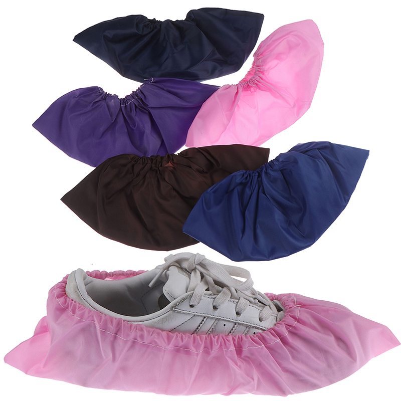 1Pair Thicken Reusable Elastic Shoe Cover Student Machine Room Bird Dust Proof Feet Covers Home Indoor Antiskid Overshoes