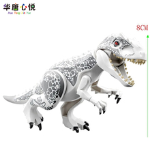 Jurassic Dinosaur Park Indominus Rex DIY Blocks Dinosaurs Tyrannosaurus Rex Tiny Models Building Block Kids Toys Creator Animals