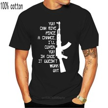 Camiseta divertida para hombres, camisa de cuello redondo de marca de moda, gran oferta, militar/ejército/Marines, Ak47,