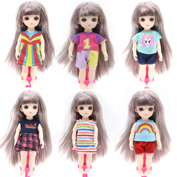 цена на Reborn 13 Moveable Jointed 16cm Surprise Doll Blyth Dolls lols Toys BJD Baby Doll Naked Nude Women Body Dolls for Girls Gift Toy