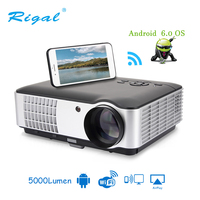 806 LED Projector For 1080P with Wireless WiFi Wired Sync display function Android 6.0 Video Projector 3D HDMI VGA AV USB Beamer