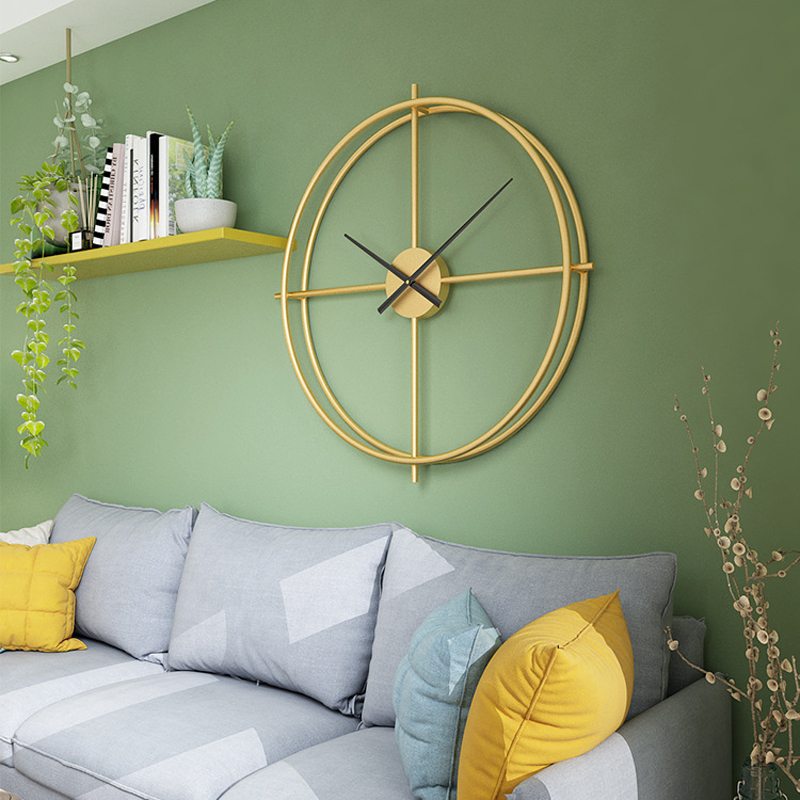 60cm Large Silent Wall Clock Modern Design Clocks Gold Black For Home Decor Office European Style Hanging Wall Watch Clocks art