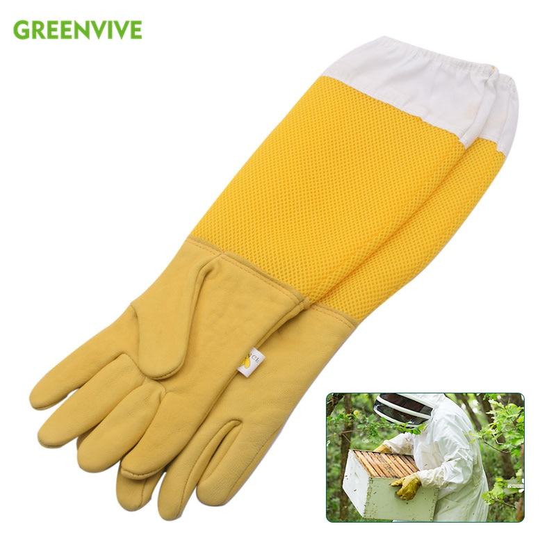 1 Pair Professional Beekeeping Gloves For Beekeeping Bee Beekeeping Protective Gloves With Vented Long Sleeves Beekeeping Safety