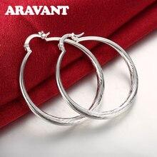 Silver Color Creole Circle Big Hoop Earrings For Women Wedding Jewelry Brincos 2019 недорого