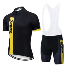Mavic Ropa hombre de marca 2019 cycling jersey short sleeve kit triathlon bike maillot ciclismo bicicleta roupa ciclismo set
