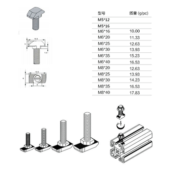 M5 M6 M8 Stainless Steel Hexagon Flange Nuts T-Slot Drop-In Stud Screw Bolt T-type Nuts Fastener For Aluminum Alloy 2020 3030 40 m6 m8 m10 din316 butterfly bolt wing bolt set wing nuts claw screw thumbscrew stainless steel