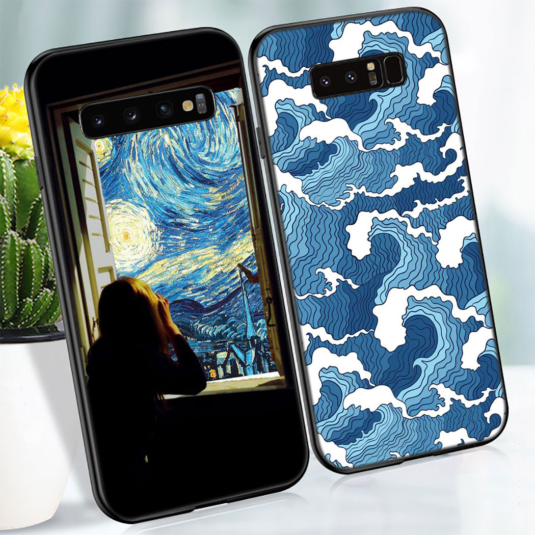 Y27 Famous Painting David Van Gogh Art Soft Silicone Case For Samsung Galaxy Note 8 9 S10 S9 S8 Plus Lite S10E S6 S7 Edge