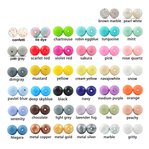 Image 5 - LOFCA Silicone Beads 12mm 200pcs Tie Dye Silicone Teething Beads Food Grade Silicone Baby Pacifier Necklace Pendant Making