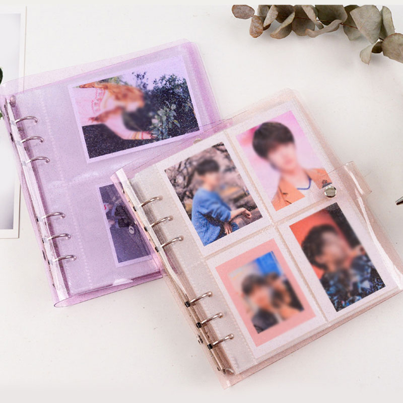 200 Pockets Photo Album Card Holder Jelly Color Transparent Photo Holder Card Bag 3/5 inches Large Capacity Business Card Bag