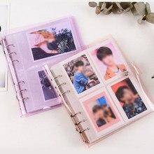 200 карманы фотоальбом держатель для карт желе Цвет прозрачный фото держатель карты сумка 3/5 дюймов Большой Ёмкость Бизнес сумка для карт