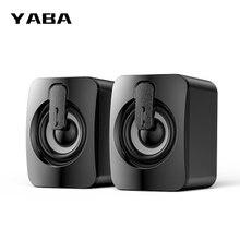 YABA الكمبيوتر مكبر صوت USB مكبرات الصوت السلكية ثلاثية الأبعاد ستيريو الصوت المحيطي مكبر الصوت للكمبيوتر المحمول الكمبيوتر المحمول لا مكبرات الصوت بلوتوث