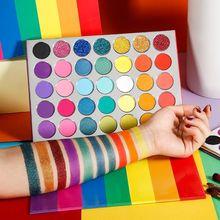 Großhandel Make-Up Matte Glitter Lidschatten Pallete Macaron Regenbogen Helle Neon Pigment Lidschatten-palette Private Label Kosmetik