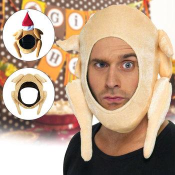 Palone kapelusze z indyka pluszowe święto dziękczynienia kapelusz z indyka na Halloween święto dziękczynienia kostiumy świąteczne tanie i dobre opinie CN (pochodzenie) Dla dorosłych Tkaniny Turkey