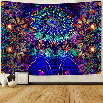 Simsant Trippy Sea Tapestry Hippie Fish and Jellyfish Summer Art Wall Hanging Tapestries for Living Room Home Decor Banner - discount item  20% OFF Home Decor