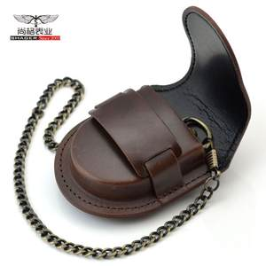 Pouch-Bag Watch-Box-Holder Chain Pocket Coin-Purse Classic Vintage Fashion Male Back