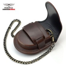 Pouch-Bag Watch-Box-Holder Chain Pocket Coin-Purse Vintage Classic Fashion Brown Back