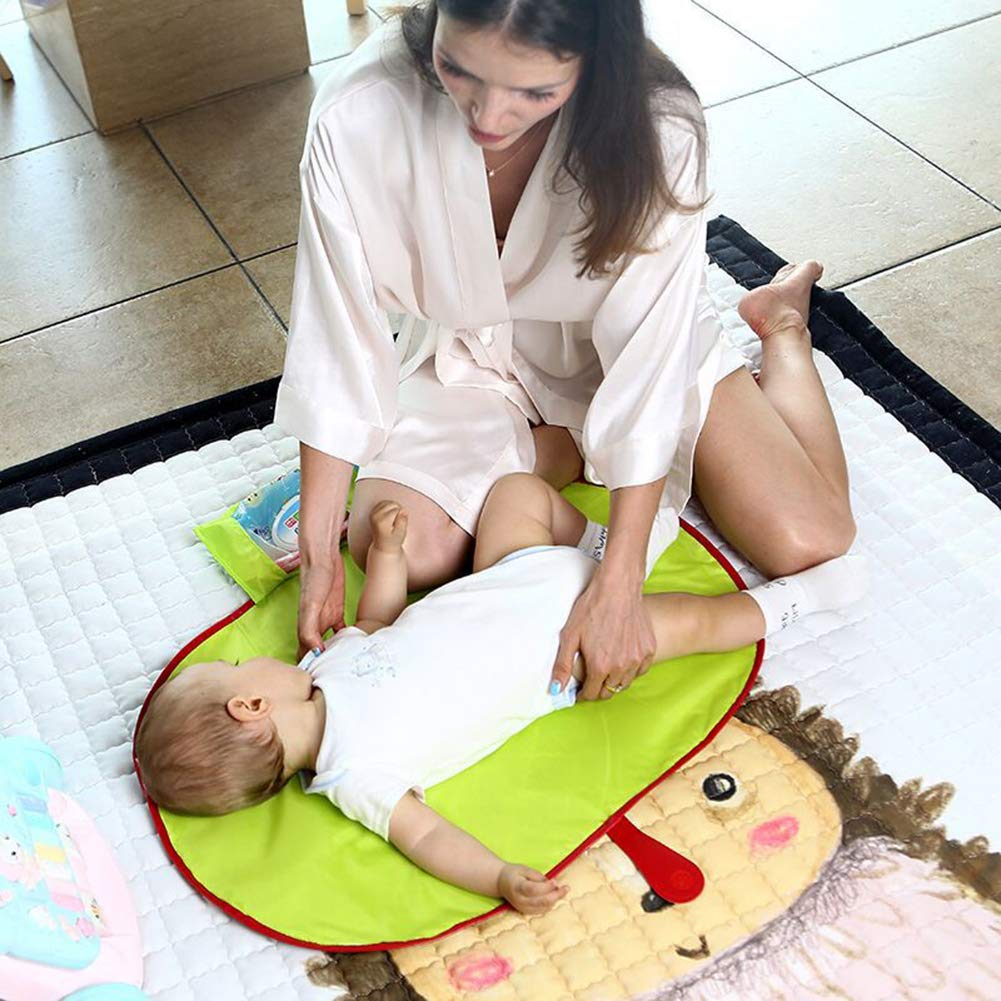 CY00211 Portable Baby Nappy Changing Mat Waterproof Diaper Changing Pad Perfect for Babies Foldable Infant Diaper Changing Pad