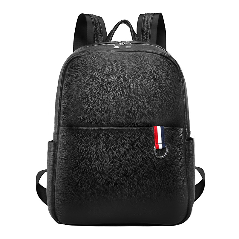 New Brand 100% Genuine Leather Men Backpacks Fashion Real Natural Leather Student Backpack Boy Luxury Computer Laptop Travel Bag